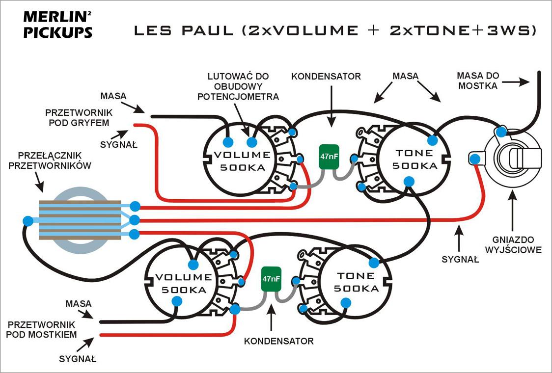 Schematy Merlin Pickups P Bass Pickup Wiring Diagram Les Paul