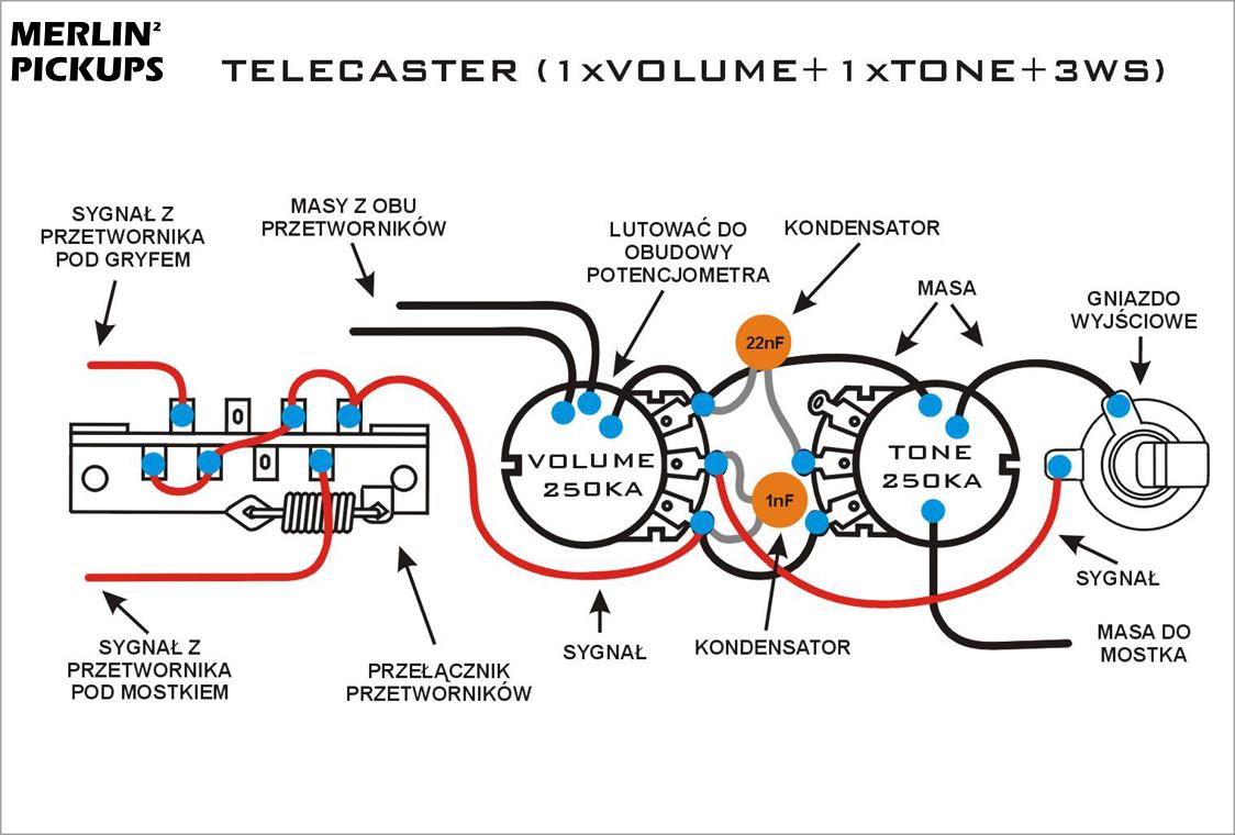 Schematy Merlin Pickups P Bass Pickup Wiring Diagram Telecaster